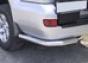 Задние уголки d60 Toyota Land Cruiser 120 (5дв.) (нерж.)  (Метек