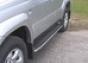 Защита ступени d42 Toyota Land Cruiser 120 (5дв.) (нерж.)  (Мете