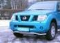 Передняя защита d60 Nissan Navara (2006-) (нерж.) (Метек). Артик