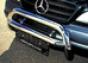Передняя защита низкая Mercedes-Benz МL d76 (нерж.)  (Метек). Ар