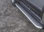 Боковая ступень c листом d60 KIA Sorento (-2005) (нерж.)  (Метек