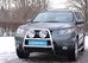 Передняя защита d60 Hyundai Santa Fe (2006-) (нерж.) (Метек). Ар