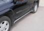 Защита задняя d60 Chevrolet Trail Blazer (2001-) (5дв.) (нерж.)